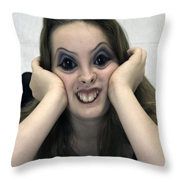 Kiss Me You Fool Throw Pillow by Clayton Bruster