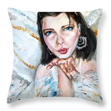 Kiss Of An Angel Throw Pillow by Shana Rowe Jackson