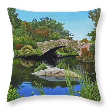Throw Pillow featuring the painting Kiss Of Fall by Kenneth M Kirsch