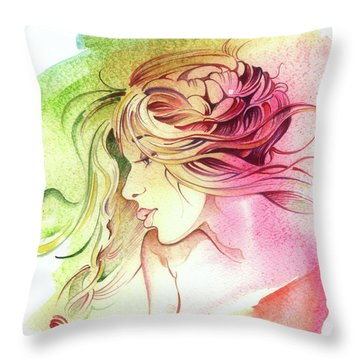 Kiss Of Wind Throw Pillow