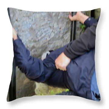 Kiss The Blarney Stone Throw Pillow