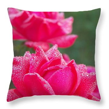 Kissed By Dew Throw Pillow