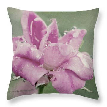 Kissed By The Rain Throw Pillow