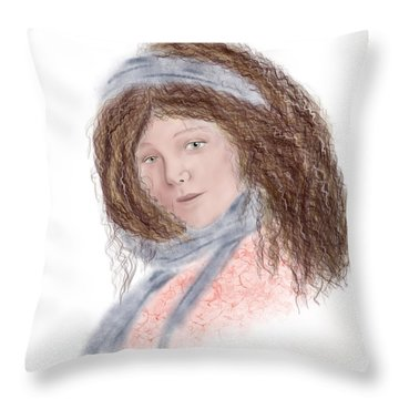Kissed By The Sun Throw Pillow by Terry Honstead