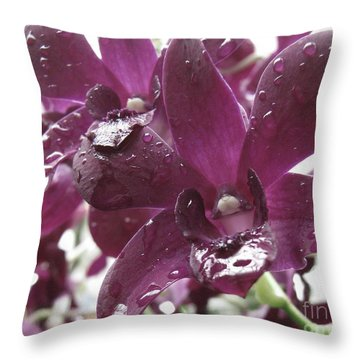 Kissed Throw Pillow by Misha Bean