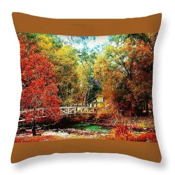 Kissing Bridge Throw Pillow