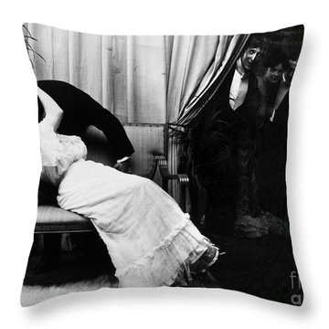 Kissing, C1900 Throw Pillow by Granger