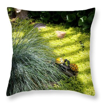 Throw Pillow featuring the photograph Kissing Cousins by Marie Neder