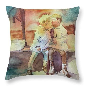 Kissing Cousins Throw Pillow