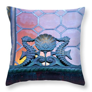 Kissing The Shell Throw Pillow