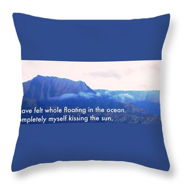 Kissing The Sun Throw Pillow by Lisa Piper