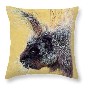 Kit Throw Pillow by Linda Becker