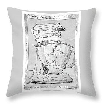 Kitchen Aid Throw Pillow by Barbara Andolsek