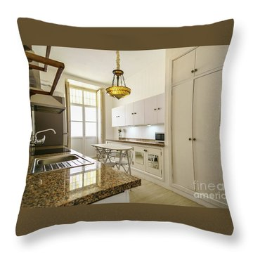 Throw Pillow featuring the photograph Kitchen Apartment In The Heart Of Cadiz by Pablo Avanzini
