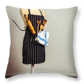 Kitchen Apron Throw Pillow