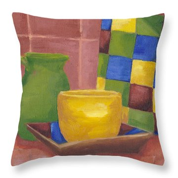Kitchen Corner Throw Pillow by Patricia Cleasby