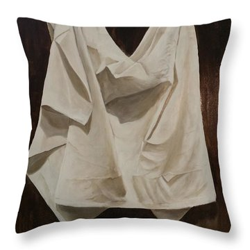 Painting Alla Rembrandt - Minimalist Still Life Study Throw Pillow