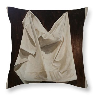 Painting Alla Rembrandt - Minimalist Still Life Study Throw Pillow