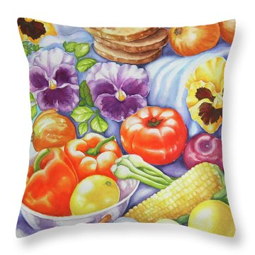 Kitchen Symphony Throw Pillow