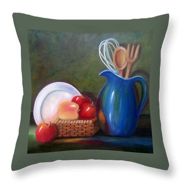 Kitchenware  Throw Pillow by Susan Dehlinger