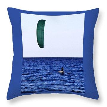 Kite Board Throw Pillow