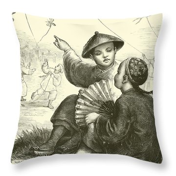 Fly A Kite Throw Pillows