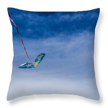 Kite In The Sky Throw Pillow