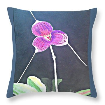Kite Orchid Throw Pillow