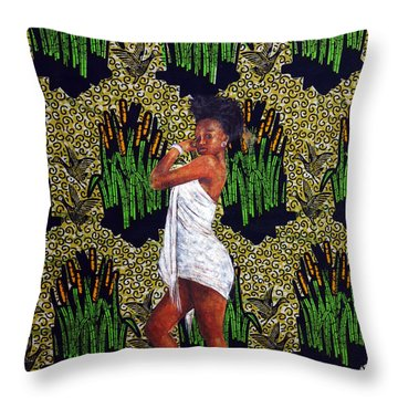 Kitenge Background Series 3 Throw Pillow