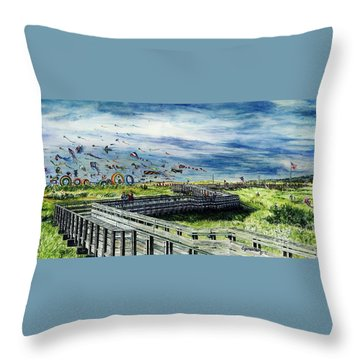 Kites Galore Throw Pillow
