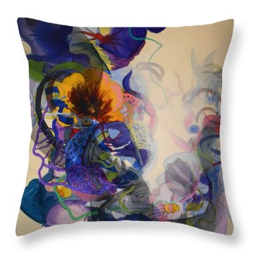 Throw Pillow featuring the painting Kitsch Dna by Georg Douglas