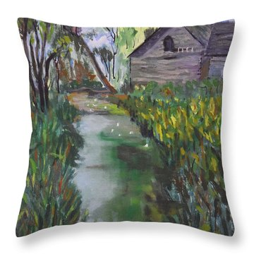 Kittatinny East Entrance Throw Pillow