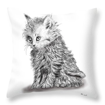 Kitten #1 Throw Pillow