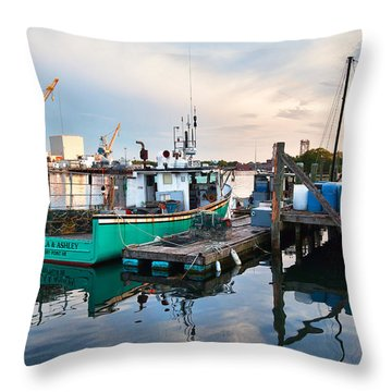 Kittery Foreside Throw Pillow by Eric Gendron