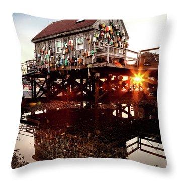Kittery Lobster Shack Throw Pillow
