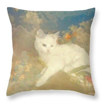 Kitty Art Precious By Sherriofpalmsprings Throw Pillow