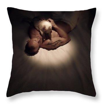 Kitty Cuddles Throw Pillow