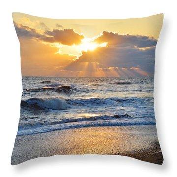 Kitty Hawk Sunrise Throw Pillow