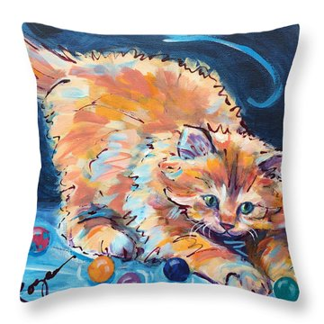 Kitty Keepsies Throw Pillow