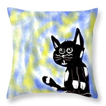 Kitty Kitty Throw Pillow