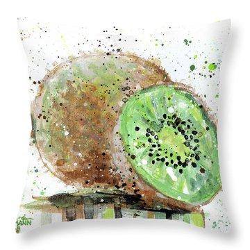 Kiwi 2 Throw Pillow