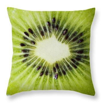 Kiwi Cut Throw Pillow by Ray Laskowitz - Printscapes