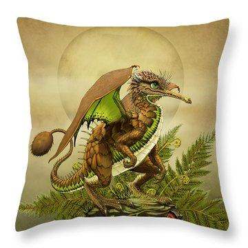Kiwi Dragon Throw Pillow