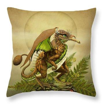 Kiwi Dragon Throw Pillow