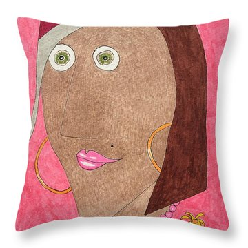 Kiwi Eyes Throw Pillow