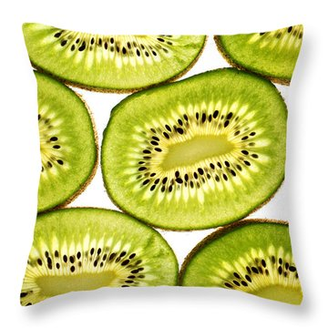 Kiwi Fruit II Throw Pillow