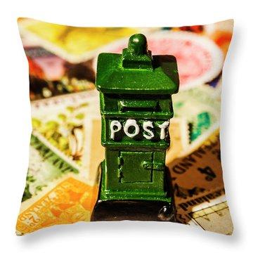 Kiwi Postage Scene Throw Pillow