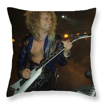 Kk Downing Of Judas Priest Throw Pillow