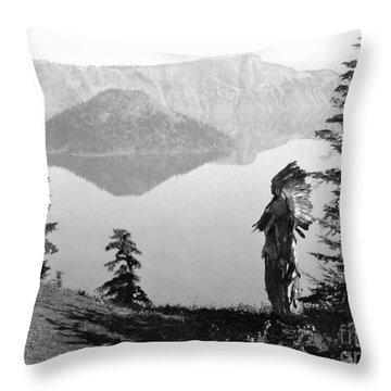 Klamath Chief, C1923 Throw Pillow by Granger