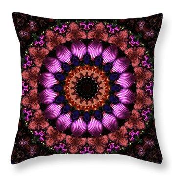 Klassy Kaleidoscope Throw Pillow by Lyle Hatch